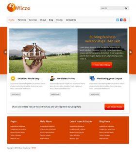 橙色的国外商务公司网站