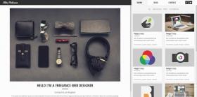 黑色的个人博客网站响应式模板