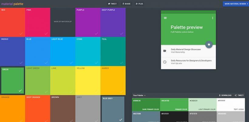 Material Design Color Palette Generator