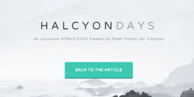 halcyon-days-one-page-template