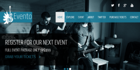 html-music-events-template