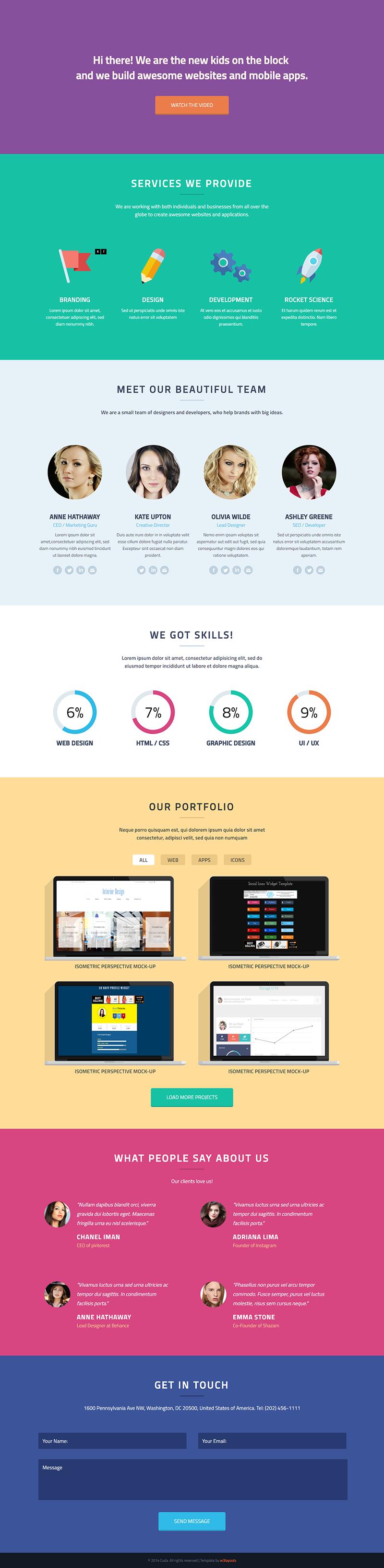 cuda-portfolio-website-template