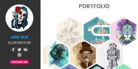 responsive-hexagonal-portfolio-html-template