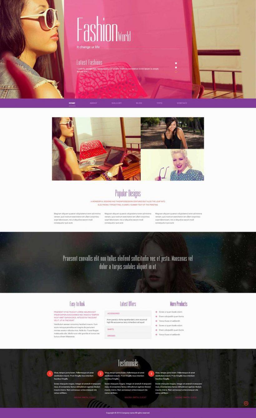 粉色的女性服装设计公司